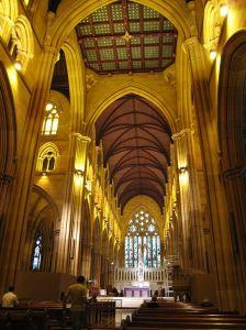 シドニー セントメアリーズ大聖堂内部