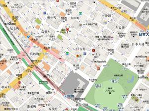 フライペン地図;ちょっと周りを入れました