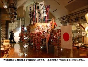 神奈川県大磯町の城山公園にある町立郷土資料館内の明神丸