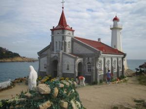 SBSテレビのドラマ Dream  のロケ地だそうですが、、、  教会と灯台です